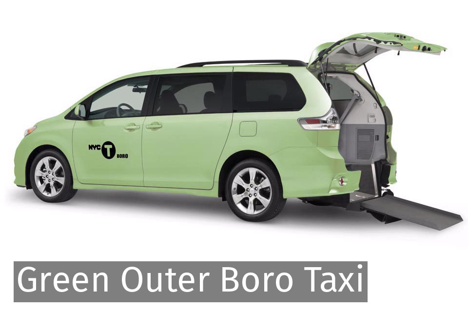 Green Outer Boro Taxi